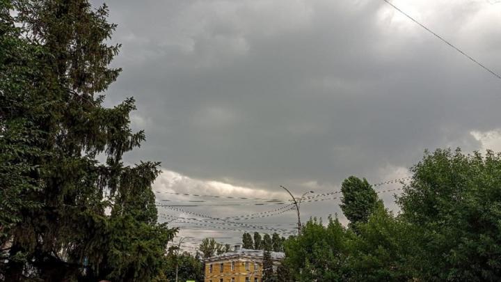 В Саратовской области вновь обещают грозу