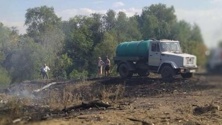 Пожар в Ершовском районе локализован