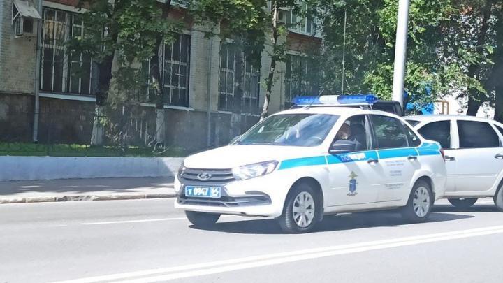 «Лада Гранта» протаранила полицейскую машину на Большой Горной