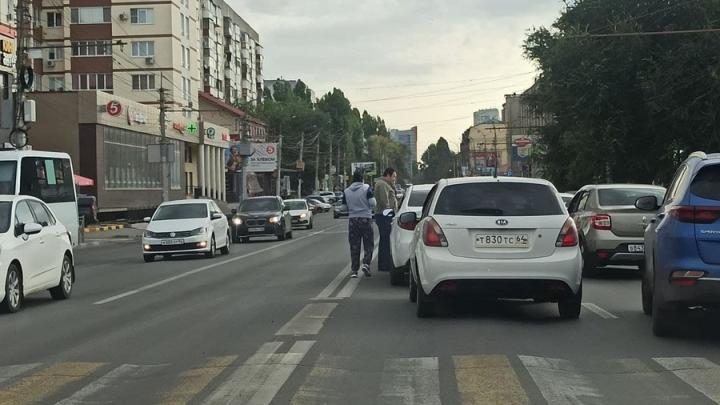 Тройное ДТП на Чернышевского усугубило утреннюю пробку