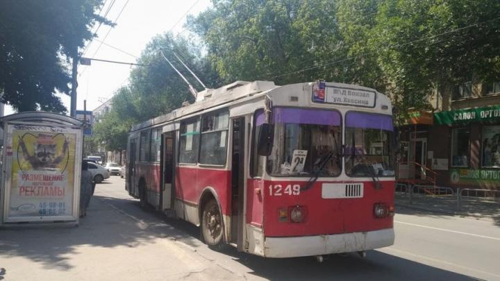 Троллейбусный маршрут № 2а закрылся на неделю в Саратове