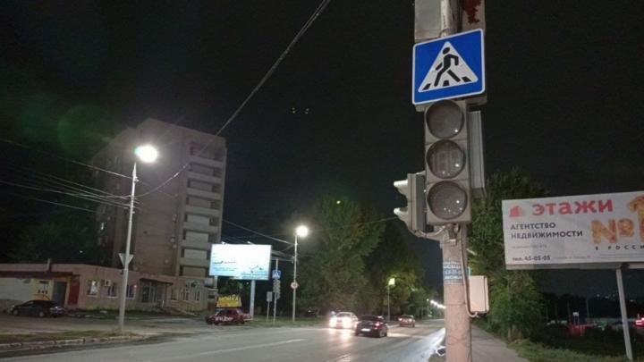 У сквера Расковой на двух перекрестках не работают светофоры
