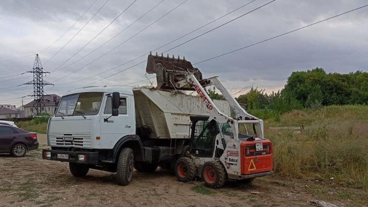 В Ленинском районе ликвидируют несанкционированные свалки