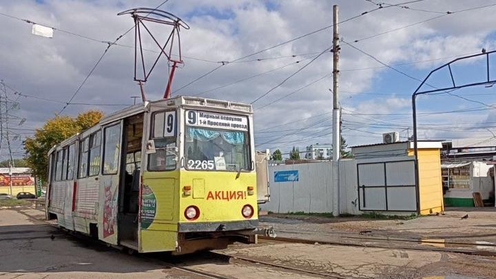 Прервано движение трамвая №9 в Саратове