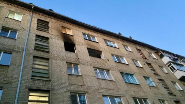 Из-за взрыва газа квартира в Заводском районе лишилась двери и окон