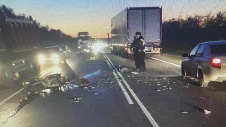 Мотоциклист разбился в Вольском районе после столкновения с Kia