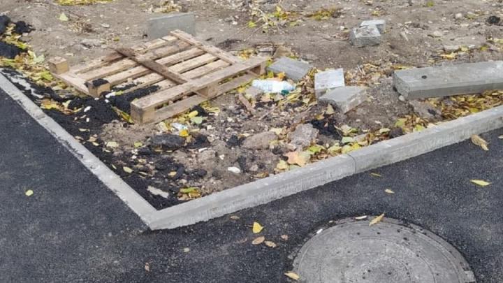 """Жители Заводского района жалуются на """"благоустройство"""" тротуаров"""