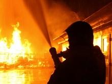 Сообщается о масштабном пожаре в поселке Первопитерский