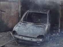 В гараже на Гвардейской сгорел автомобиль