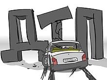 Грузовик опрокинулся после ДТП на трассе