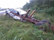 Саратовец попал в курьезное ДТП с тульским трактором