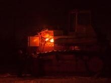 Под Самойловкой сгорел трактор