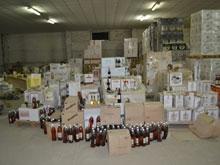 Бутлегеры пытались увезти 50 тысяч бутылок контрафактного алкоголя