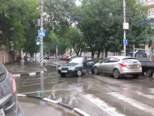 ДТП затруднило движение по улице Чернышевского