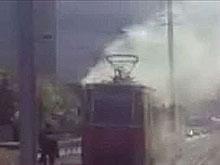 Ранним утром в Саратове горел трамвай