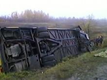 Крушение автобуса под Саратовом. Двое погибших, семь пострадавших