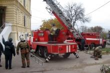 Полсотни человек тушили условный пожар в психбольнице