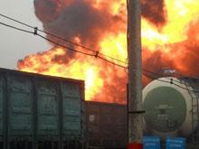 В Саратовской области загорелся грузовой состав