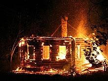Пенсионер погиб на пожаре в частном доме