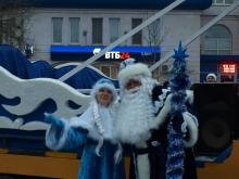 По улицам Энгельса парадом прошли Деды Морозы