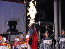 Радаев и Лобова зажгли чашу олимпийского огня в Саратове