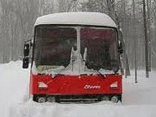 Спасатели помогли замерзавшему под Саратовом ереванскому автобусу
