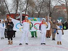 Саратовцы отпраздновали открытие Олимпиады эстафетой в парке