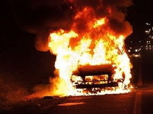 Под Энгельсом сгорел грузовик сэндвич-панелей