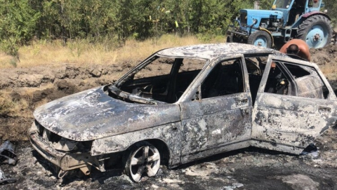На утесе Степана Разина сгорели две легковые машины