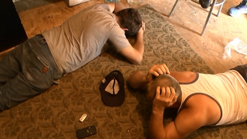 Появилось видео задержания работников подпольного казино
