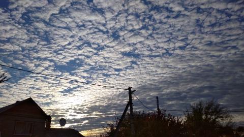 Облака заволокли саратовское небо, в области - первый снег