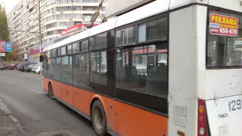 На Московской встали троллейбусы
