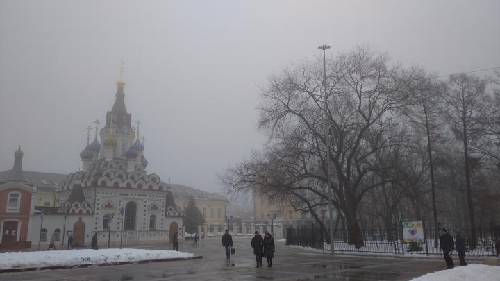 Плюсовые температуры и туман в Саратове