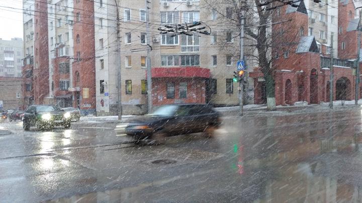 Сильный снегопад ожидается в Саратове