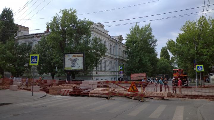В центре Саратова перекрыта улица Вольская