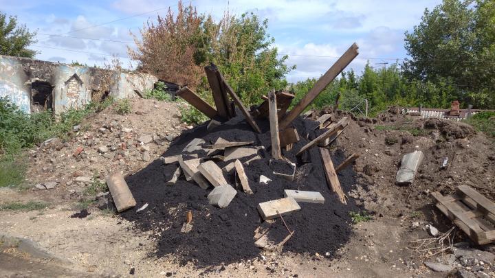 В поселке Расково ликвидирована свалка вывезенного из Саратова асфальта