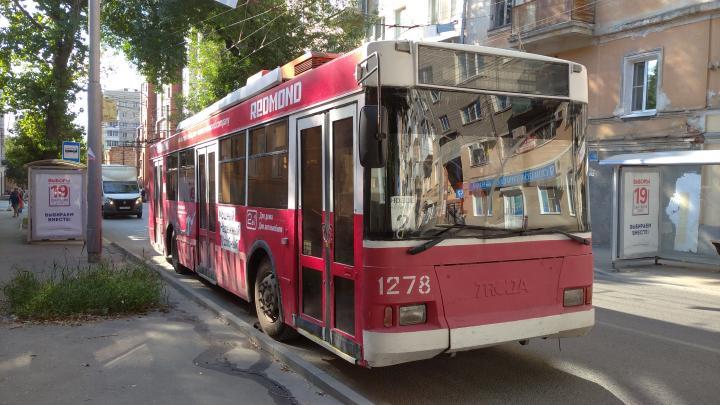 В Саратове временно закрыли три троллейбусных маршрута