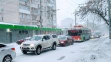 На Музейной площади в Саратове встали троллейбусы шести маршрутов